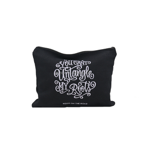 Hot Sale Cotton Cosmetic Bag with Zipper makeup bag cosmetic pouch