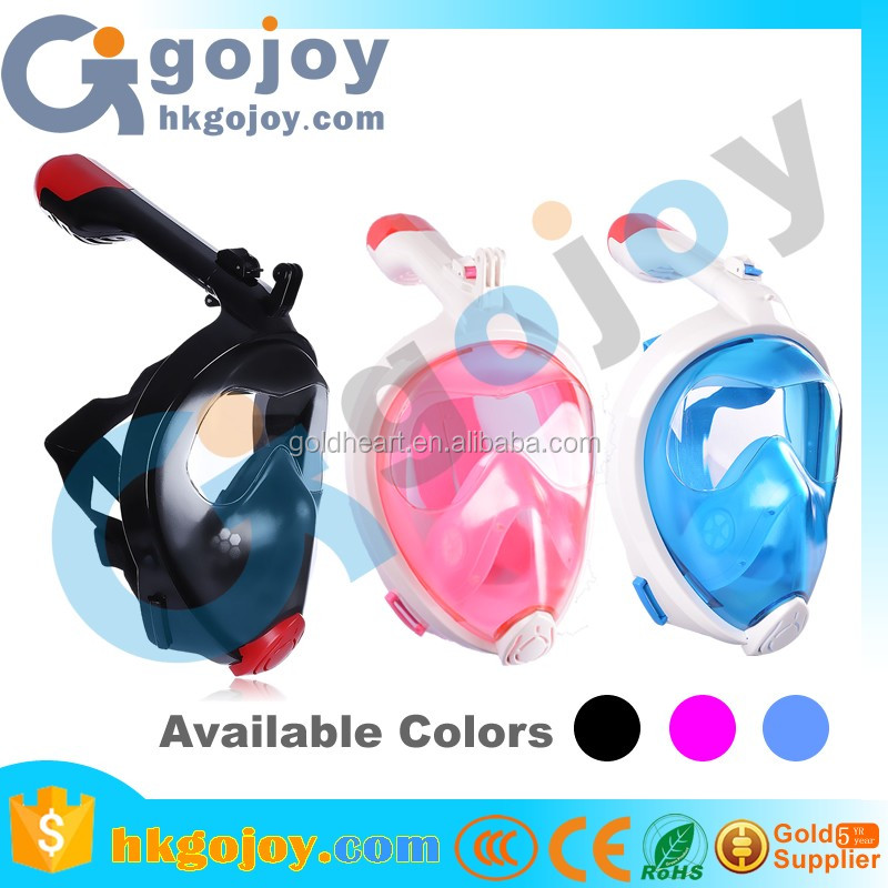 Waterproof Dive Mask Snorkel Mask With Gopro Mount And Folding Snorkel Pj Mask