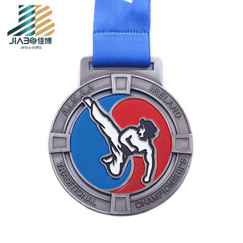 Hot Sale Custom Zinc Alloy  crafts iron bulk metal superhero taekwondo medals
