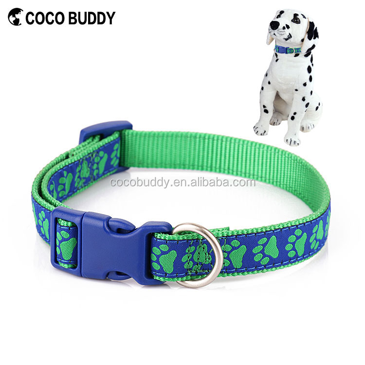 New Products 2016 Innovative Customized Stitching Jacquard Weave Fabic Nylon Dog Collar