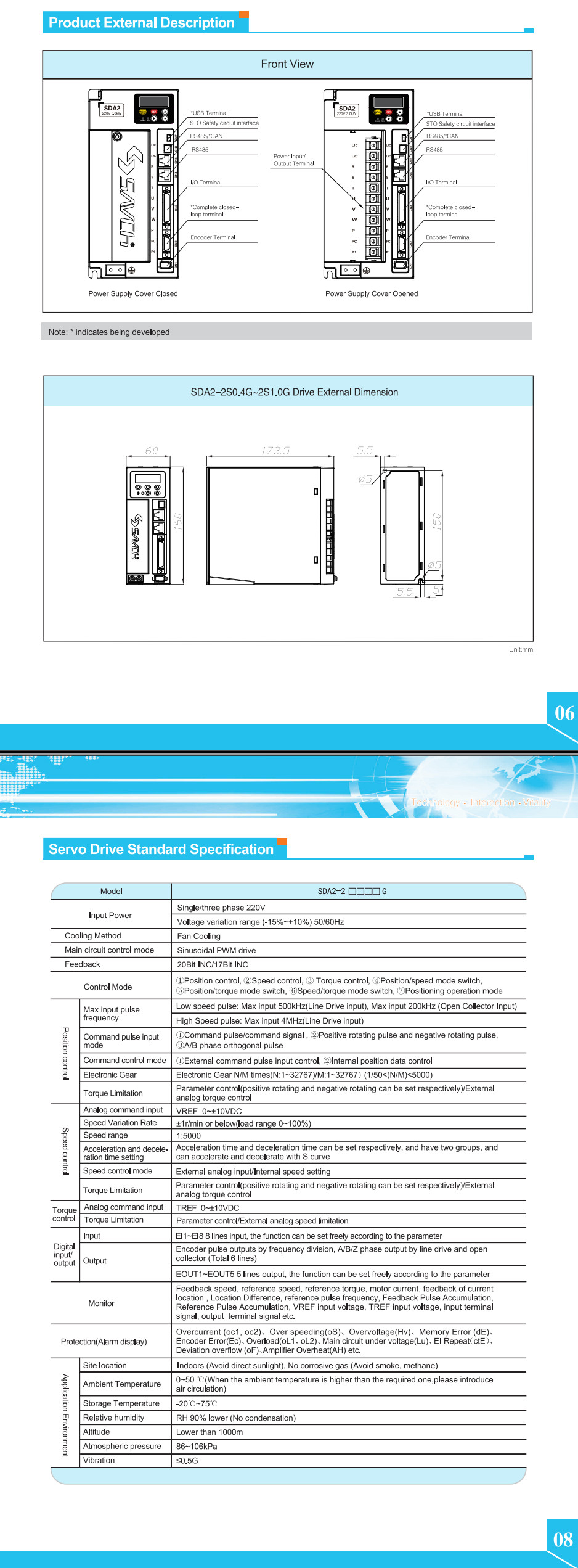 Sanch high position new performance 0.4kw~4.5kw single/three phase 220v/380v ac servo motor with servo driver