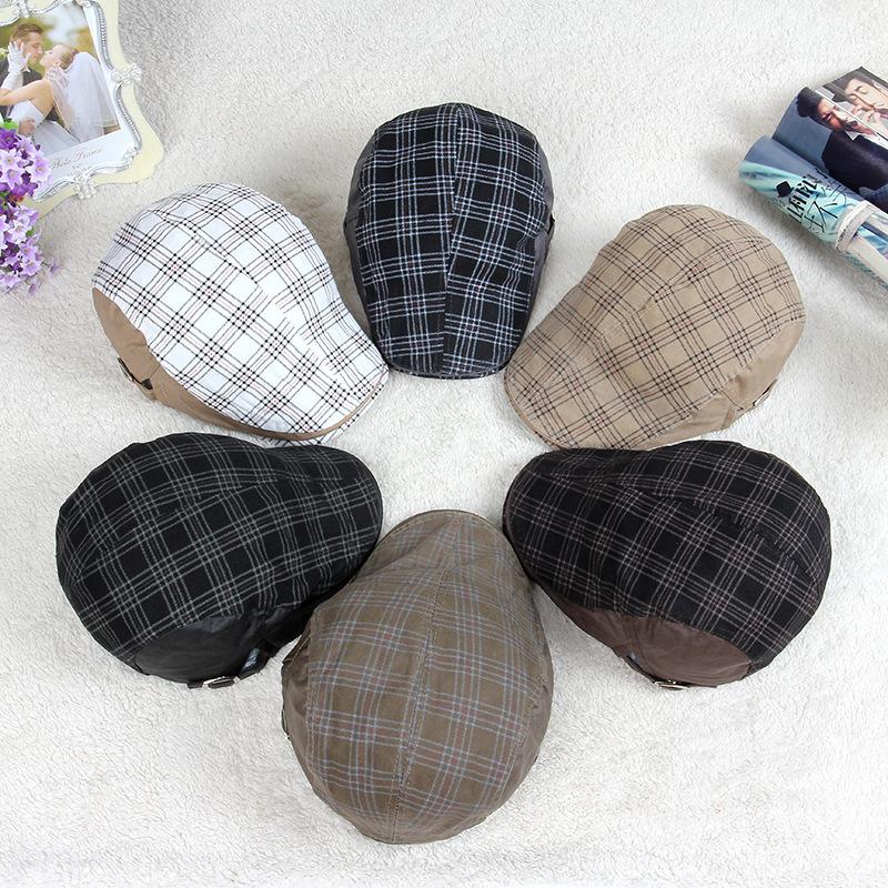 2a3d99c6b1d19 Buy 2015 Mens Berets Flat Plaid Beret Cap Hat Man Vintage Peaked Caps  Summer Autumn Spring Winter 4Colors in Cheap Price on Alibaba.com