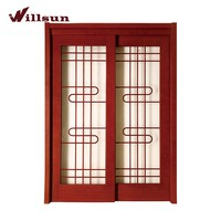 Modern Design Sliding Patio Blinds Paint Colors Wood Glass Doors With Iron Grill Design