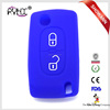 Manufacturer direct sales silicone remote car key cover for Citroen car key case with logo