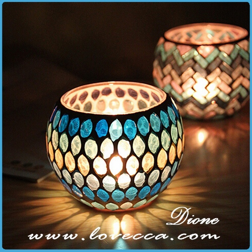 Various colored cylinder glass candlestick wholesale,small and round glass candle