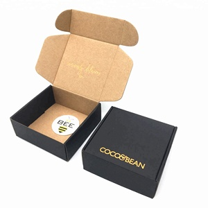matte black shipping box with logo recycled paper cardboard small black postage box packaging mail postal box
