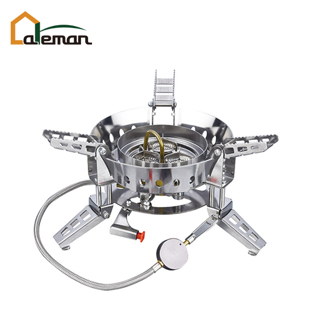 Outdoor Stoves Nice Stand Adapter Three Legs Camping Tripod Gas Stove Connector Ultralight Copper Tank Gas Tank Adapter Outdoor Stove Accessories Making Things Convenient For The People