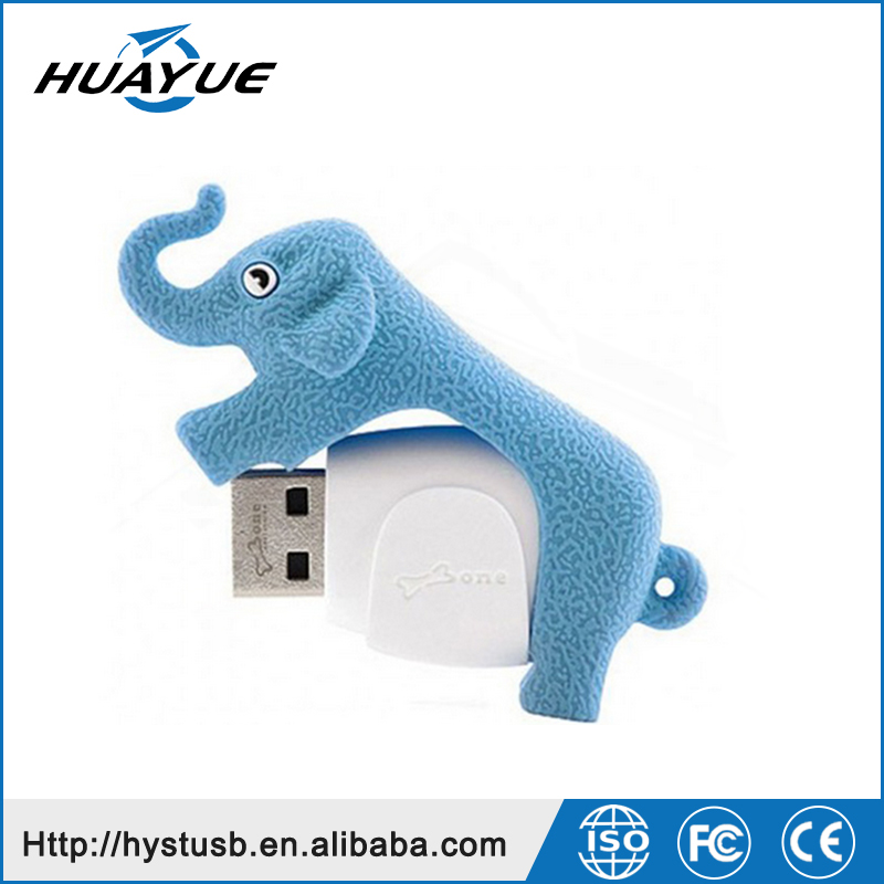 The Elephant Shape USB Flash Drives With USB 2.0 / 3.0