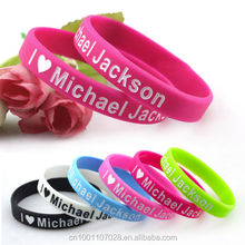 I Love Michael Jackson Silicone Wristbands MJ Rubber Bracelets Colorful Festival gift event present