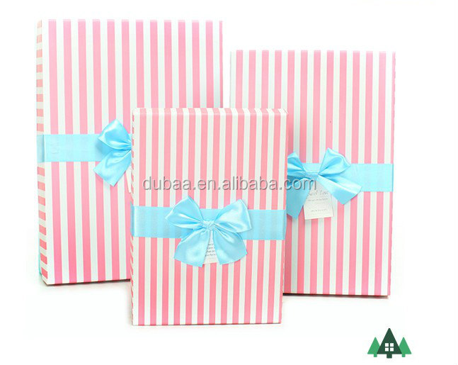 2015 Custom Made Large Decorative Gift Boxes With Bar Strips ...