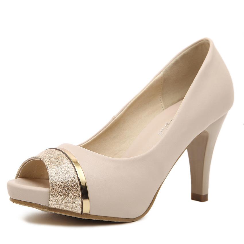 Get Quotations · New 2015 Womens peep toe Classic Pumps Stiletto Office Lady  Glitter High Heels Shoes Platform pumps 4933da0bb47d