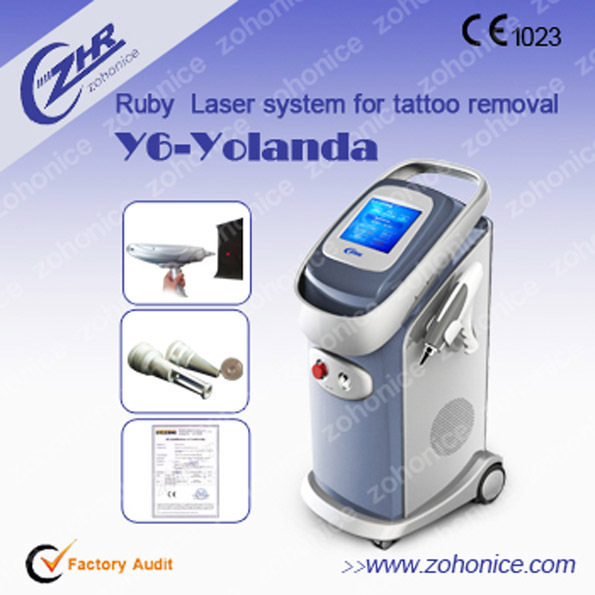 CE approved 532nm 1064nm 1320nm q switched nd yag laser tattoo removal
