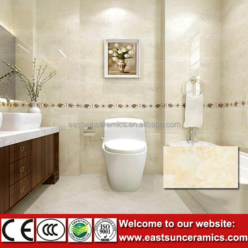 Kajaria Yellow Mix White Color Bathroom Wall Tiles For Bathroom