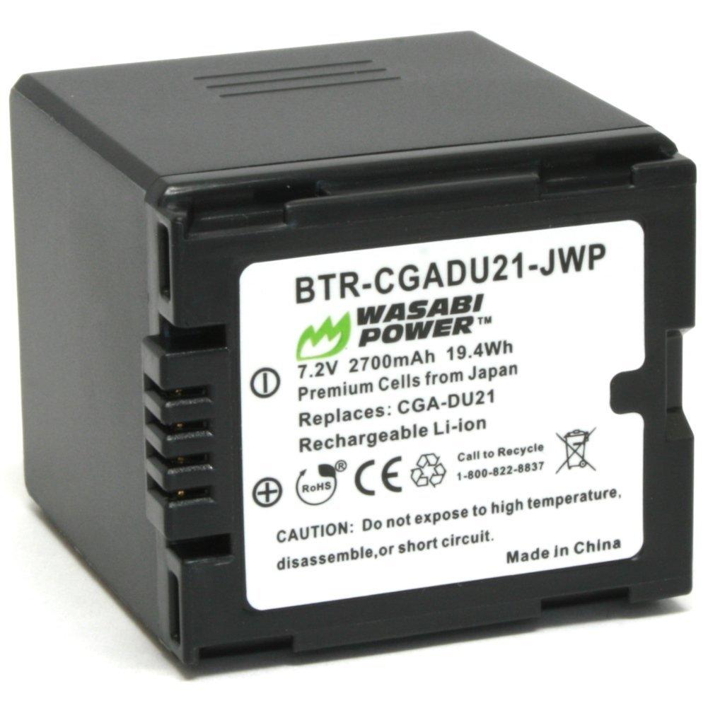 Wasabi Power Battery for Panasonic CGA-DU21, VW-VBD210 and Panasonic NV-GS10, GS15, GS17, GS21, GS22, GS26, GS27, GS28, GS29, GS30, GS33, GS35, GS37, GS38, GS40, GS44, GS50, GS55, GS58, GS60, GS65, GS70, GS75, GS78, GS80, GS85, GS98, GS120, GS140, GS150, GS158, GS180, GS188, GS200, GS230, GS250,