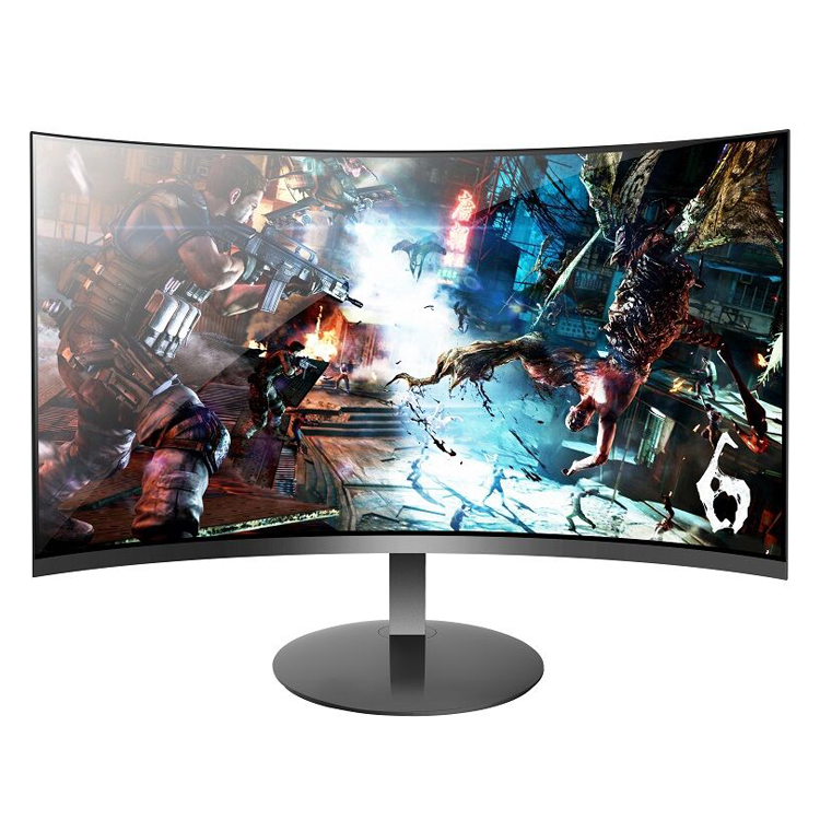 Factory supply black 1080p ips 178 viewing angle 24 inch curved lcd computer pc monitor