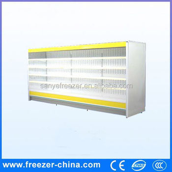 Wind Curtain Single Temperature Cooler Type Display Refrigerated ...