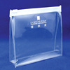 OEM clear plastic zipper pouch/ clear vinyl slider zipper bag