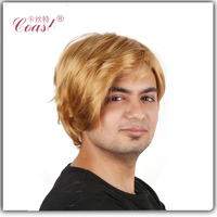cheap blond men wig wholesale lace front wig for black man
