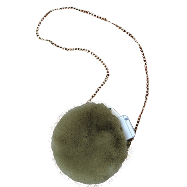 400e7e4b80 Winter Faux Fur Round Women Soft Handbags Purse Clutches Bag - Buy ...