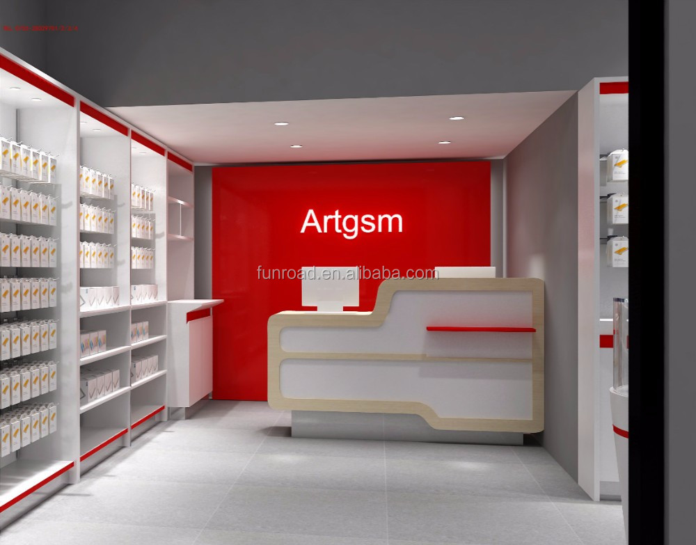 High quality customized cellphone retail store showcase