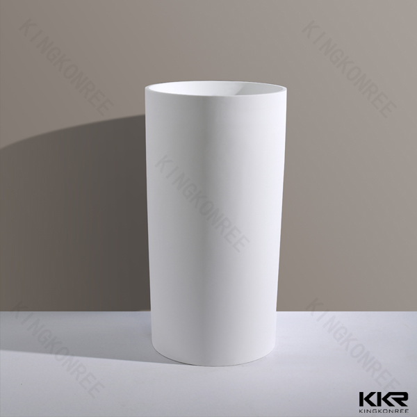 Acrylic Solid Surface Pedestal Basin,Floor Standing Wash Sink ...