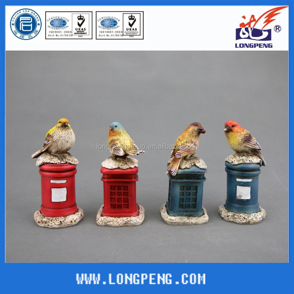 Antique Design Resin Garden Bird Ornaments