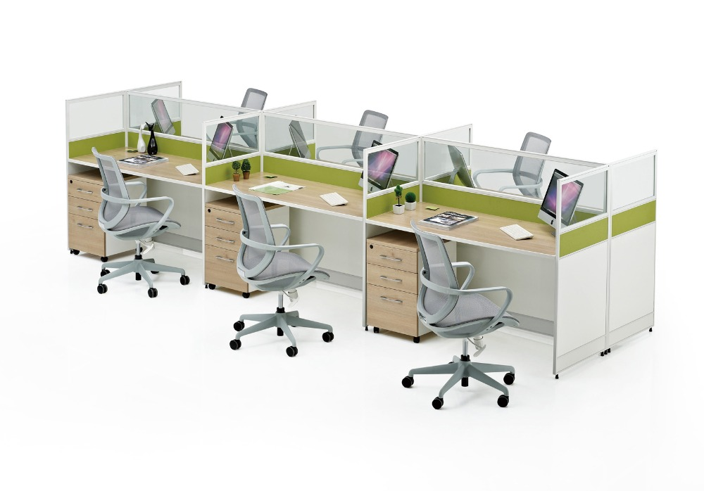 4 seater office workstation modular office desk office furniture