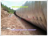 EN10025 standard Multi assemble corrugated steel pipe steel arch building