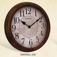 2016 antique reproductions wood craft european wall clock (18W05GL-238)