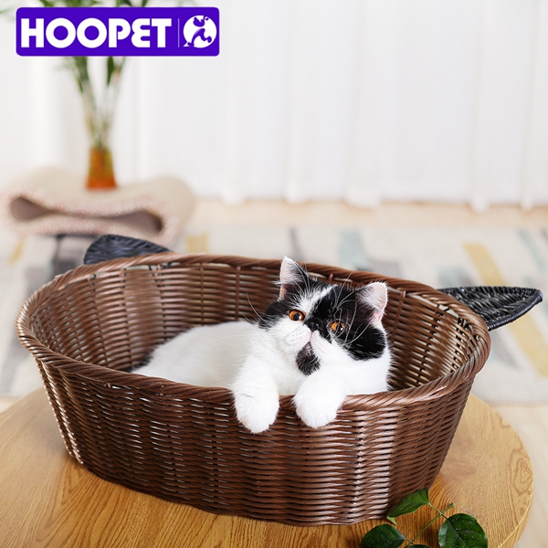 Summer Artificial Small Medium Rattan Cat Dog Beds Wholesale
