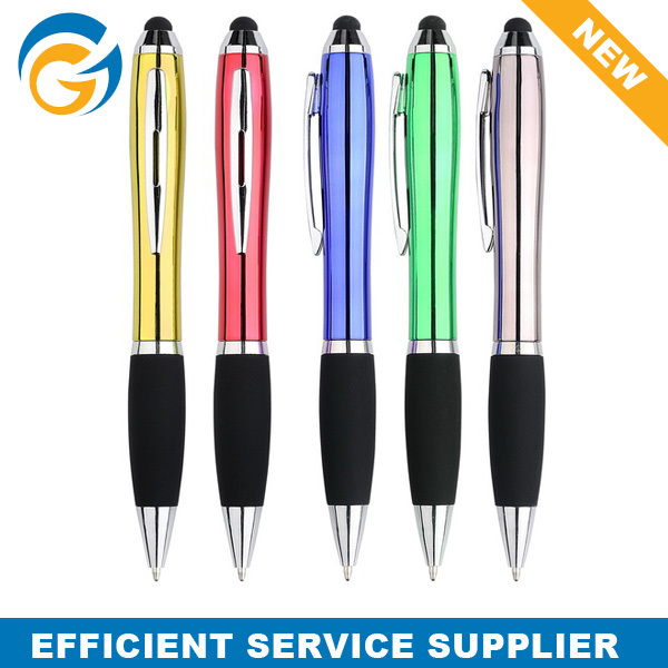 Metallic Colorful Promotional Rubber Tip Touch Stylus Pen