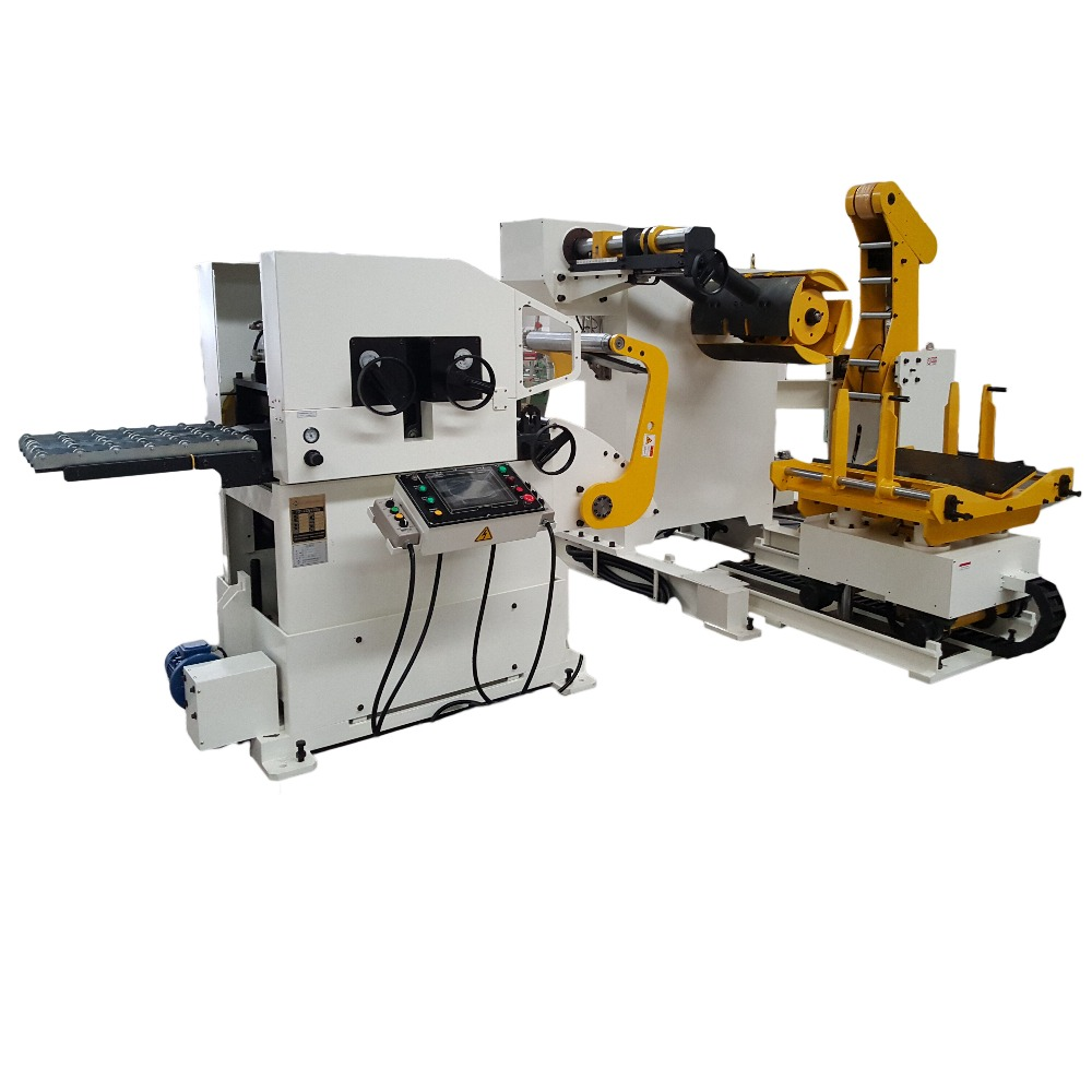 sheet metal uncoiling feeder machine 3 in 1