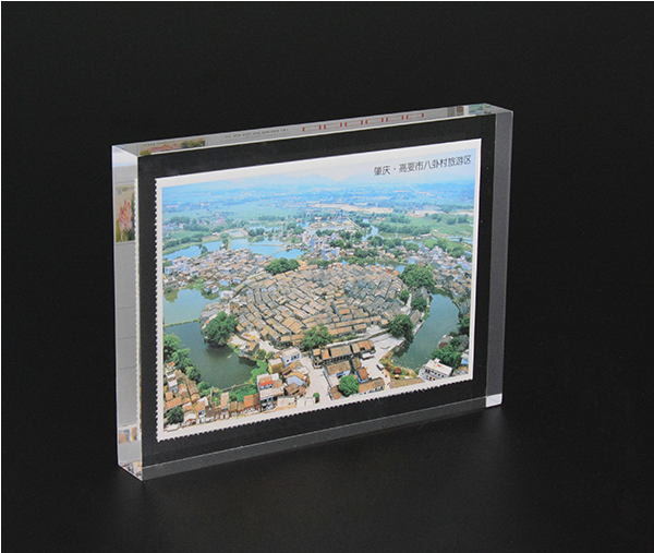 Wholesale clear solid acrylic cube brand logo block display