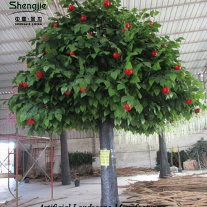 China artificial indoor & outdoor apple tree with artificial tree trunk