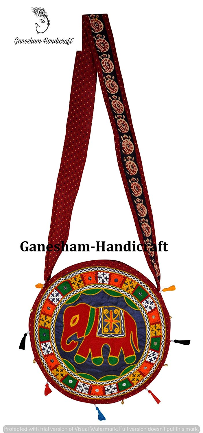 a544a8ed43 Get Quotations · Indian Hippie Elephant Boho Hobo Sling Bag Cotton Handmade  Bags Messenger Bags Indian Vintage Ethnic Designer