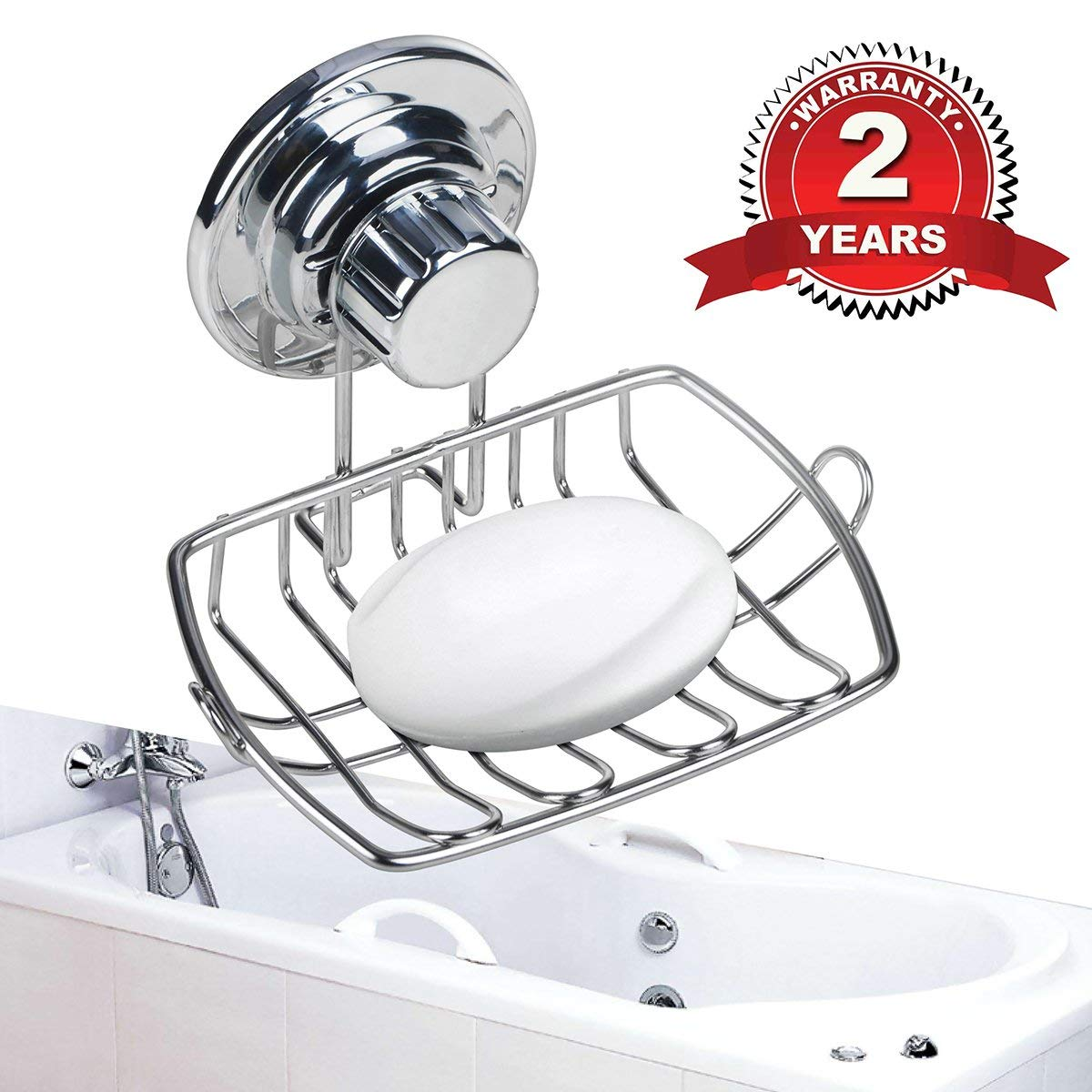Weguard Soap Dish For Shower Suction Cup Holder Stainless Steel