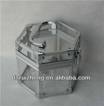 d407d8794 Beauty Girls' Faves, Clear Acrylic Transparent Makeup Train Case w  /Aluminum Frame,