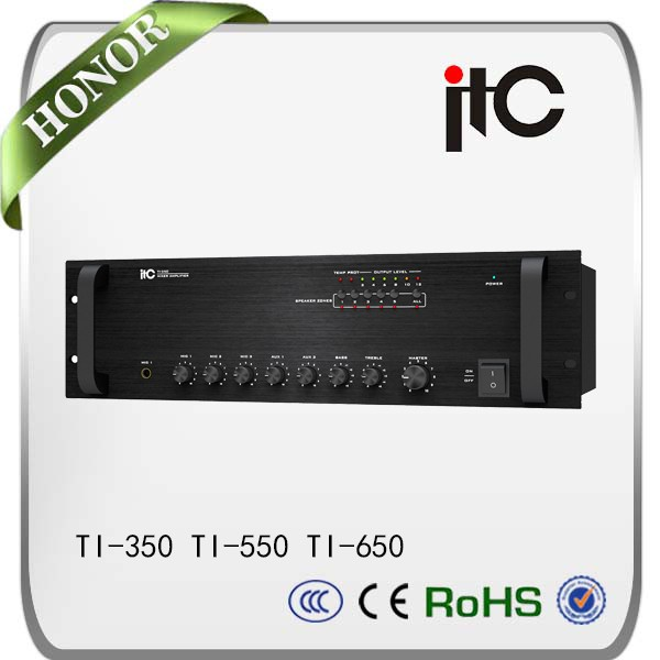 ITC TI-350 Series 350W 500W 650W PA System 5 Zone Mixer Amplifier