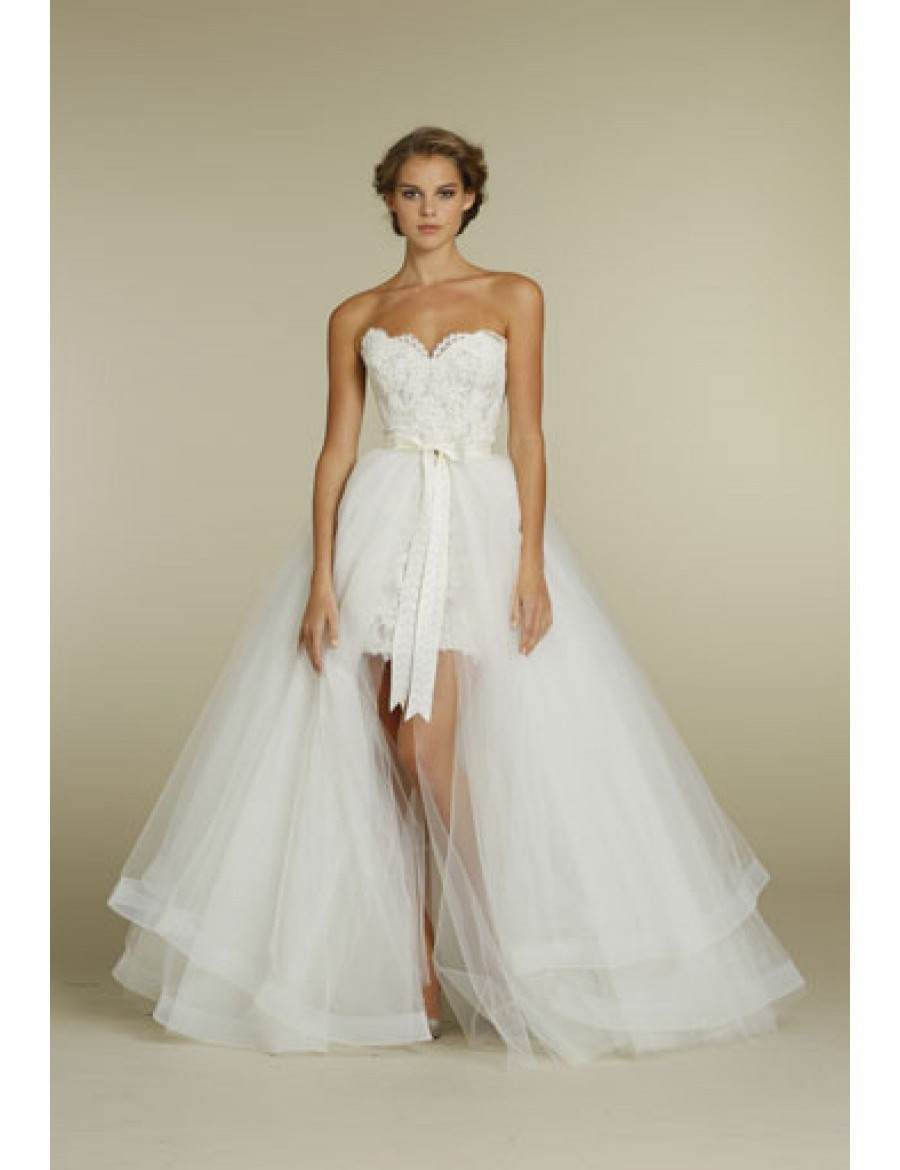 Wedding Dress With Removable Skirt 73