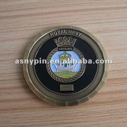 UK Royal Navy gold custom coin, UK Coin