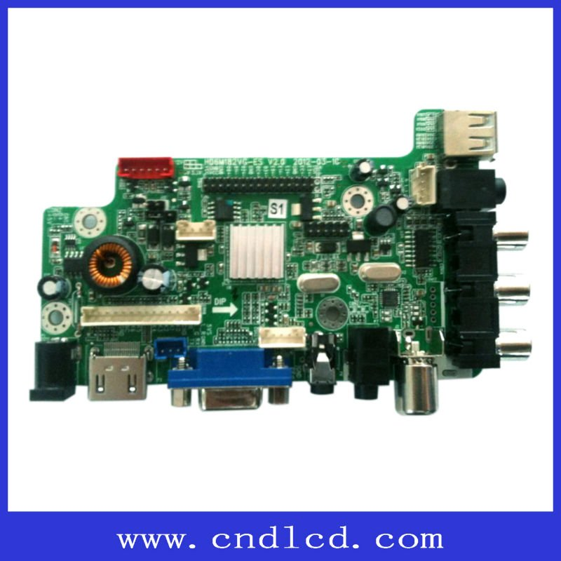 Lcd Ad Board Convert Hdmi Video Input To Lvds