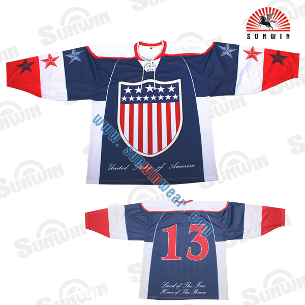 free sample washable international christmas ice hockey jersey manufacturers