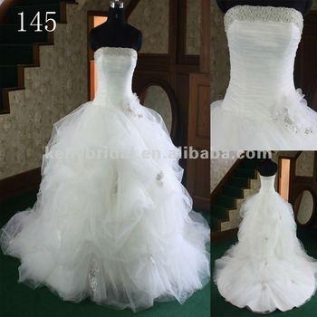 Bridal Ball Gown Applique Delicate Beading Tulle Big Designer ...