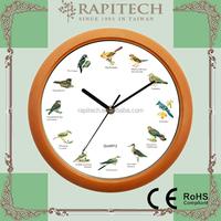 10 Inch Bird Sound LED Wall Clock