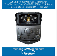 A8 Chipset Car DVD Player For Chevrolet Cruze 2009-2012 With GPS Radio Bluetooth S100 OS