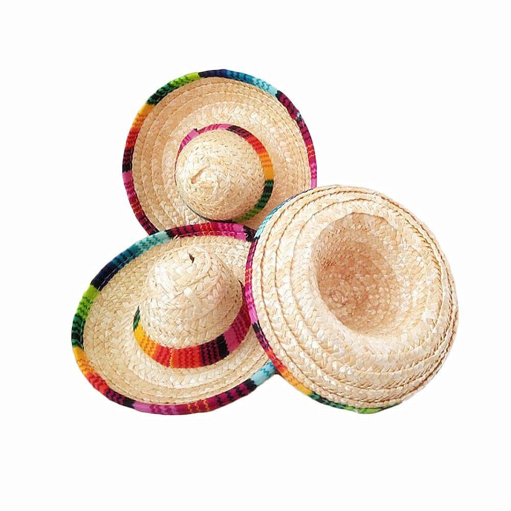 a13128fe Get Quotations · Mini Color Mexican Sombreros Tabletop Sombreros Mexican  Hats DIY supplies Party Favors Pack Of 6