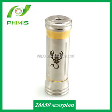 new products 2014 dry herb vaporizers scorpion hot scorpion 26650 mod