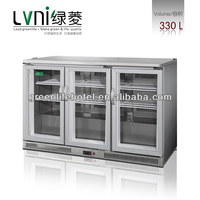 LVNI LN-300L stainless steel commercial beverage display fridge cooler/soft drink back bar cooler