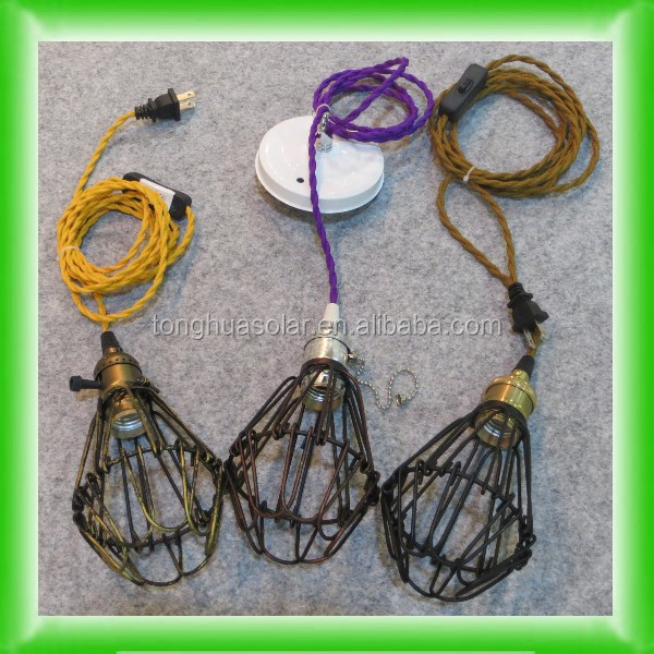 American/UK/European Plug On/off Switch Vintage pendant lighting Cable Cord Set & American/uk/european Plug On/off Switch Vintage Pendant Lighting ...