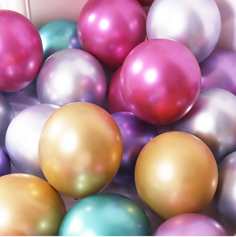 12inch New Metallic Latex Balloons Thick Pearly Metallic Chrome Alloy Colors Photograph Wedding Party Decoration Balloons